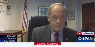 """tom carper after saying """"fuck fuck fuck"""" during live C-SPAN coverage"""
