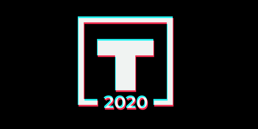 trump 2020 logo in tiktok logo style