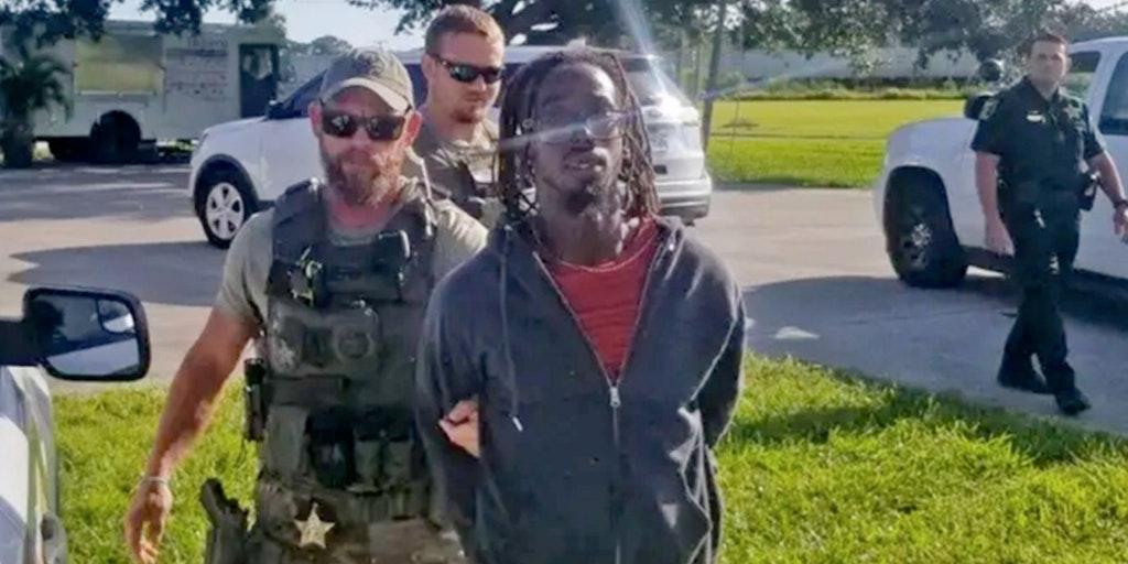 man getting arrested