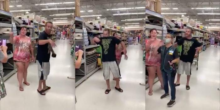 Anti-mask couple - Walmart