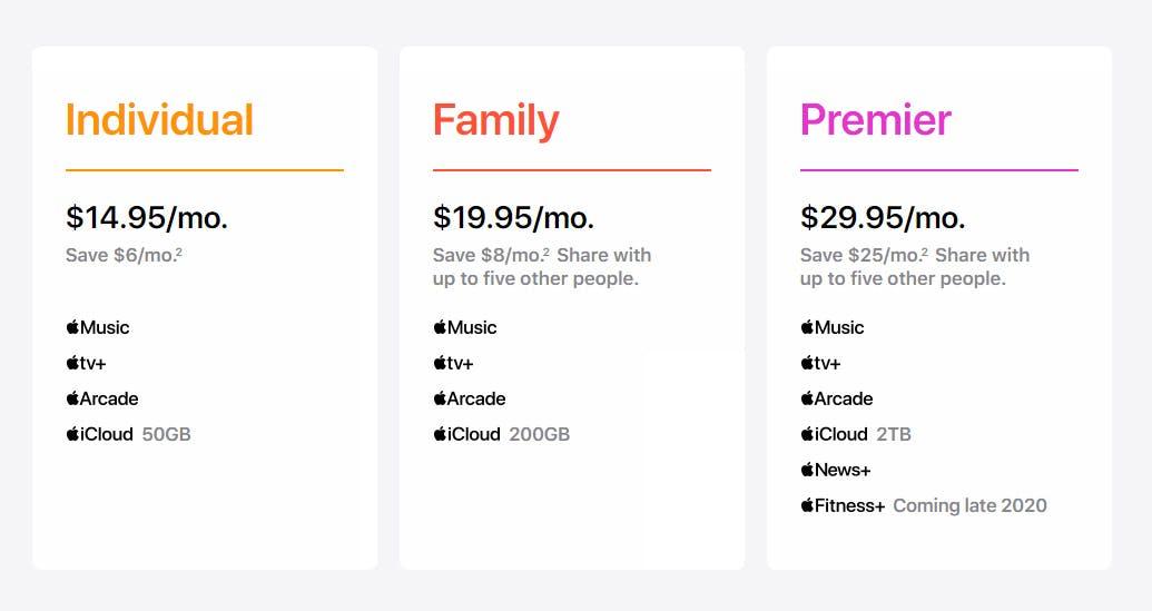 Apple One Prices