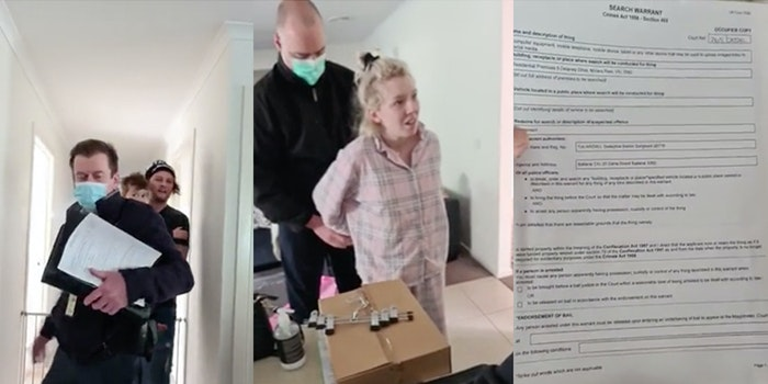 woman arrested for facebook event