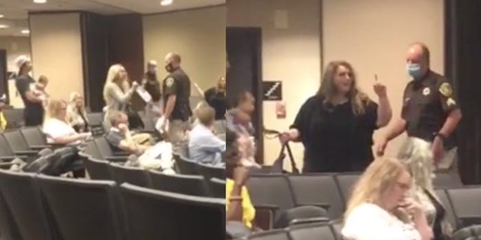 Two anti-masker Karens are escorted out of Omaha city council meeting