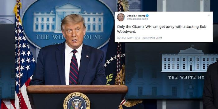 Donald Trump Bob Woodward Tweets