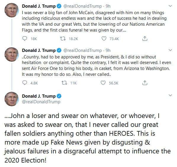 Donald Trump Denies Calling McCain A Loser But He Did
