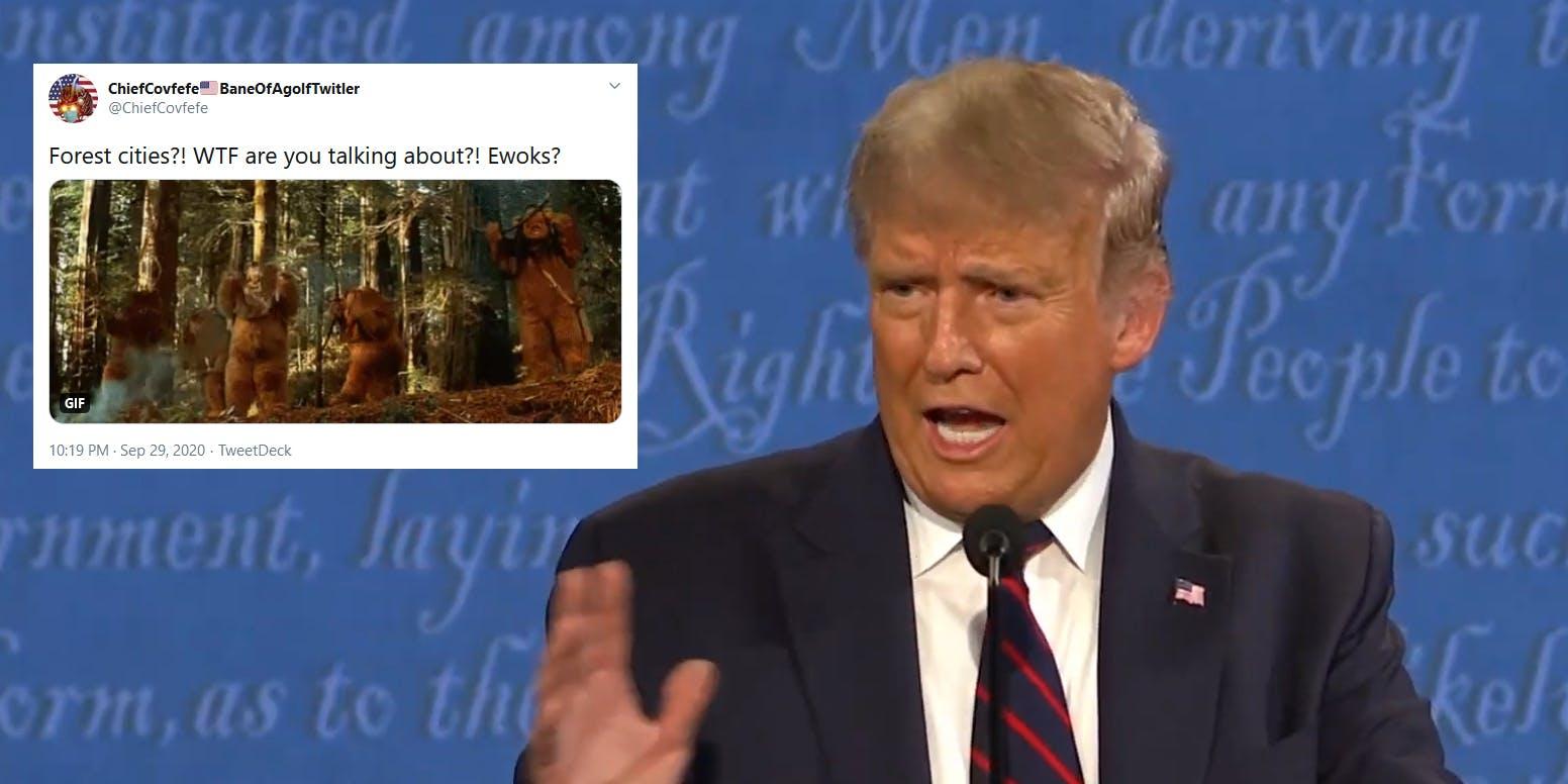 Donald Trump Joe Biden Debate Forest Cities