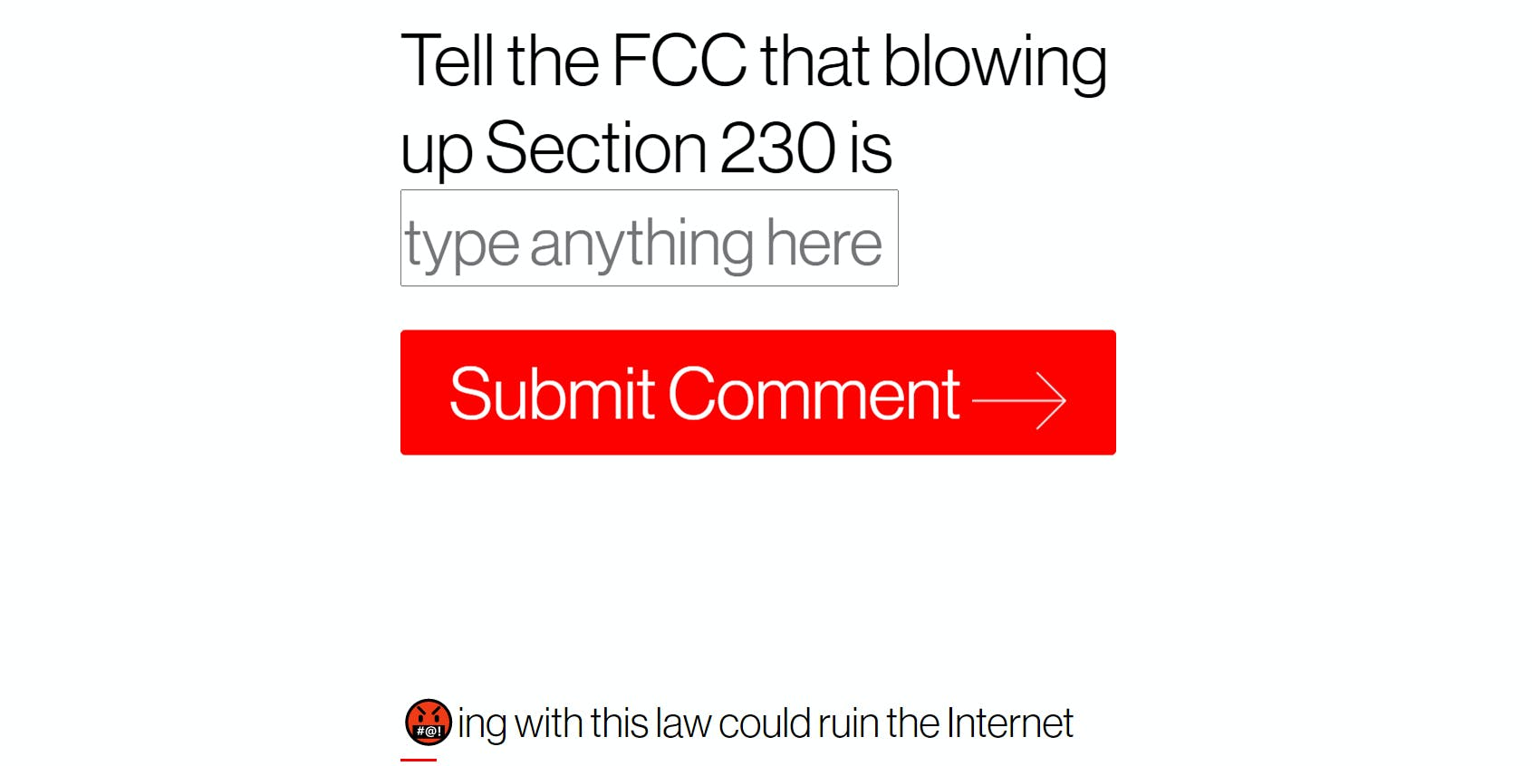 Fight for the Future FCC Section 230 Public Comments