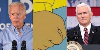 Joe Biden Mike Pence Arthur Meme