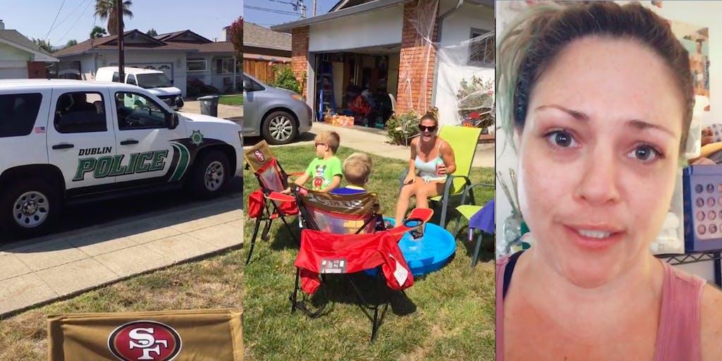 Karen calls cops Rowdy Pool Party