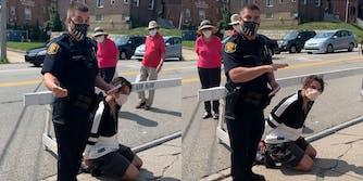 Pittsburgh officer Paul Abel arrests bystander for criticizing his mask