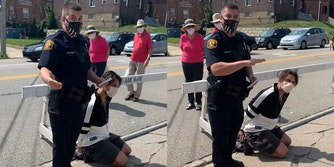 Pittsburgh officer Paul Abel arrests bystander for criticizing his mask