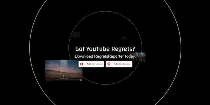 RegretsReporter YouTube Mozilla Browser Extension