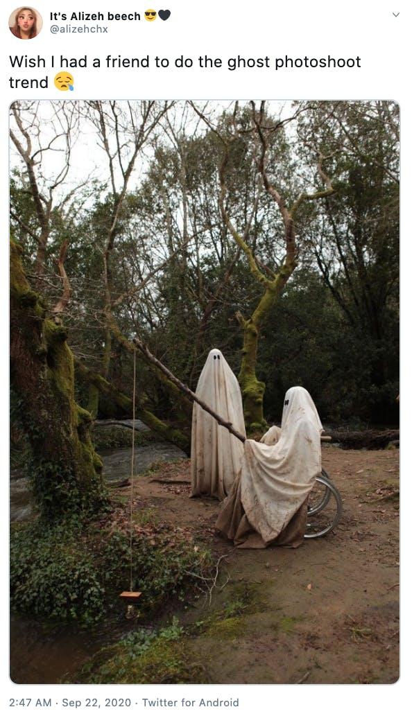 ghost photoshoot