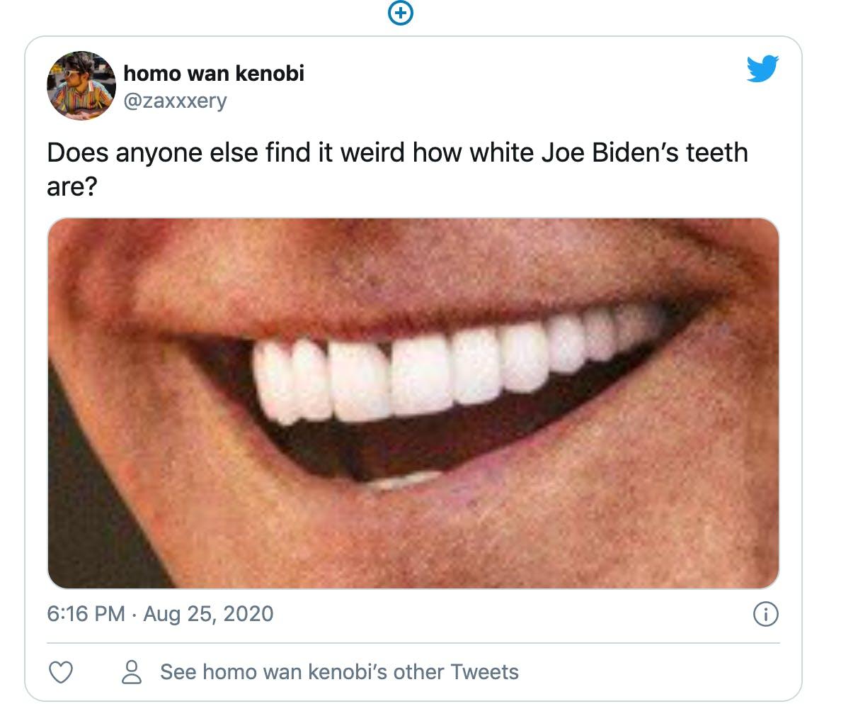 joe biden teeth