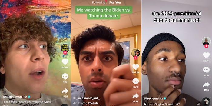 TikTok users reacted to the first presidential debate last night