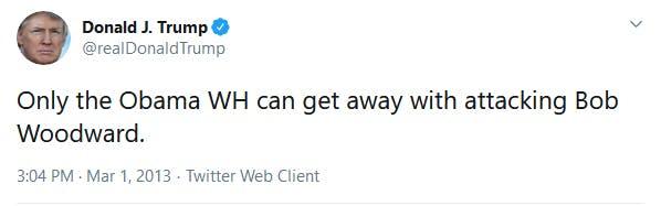 Trump Woodward Tweet 2013