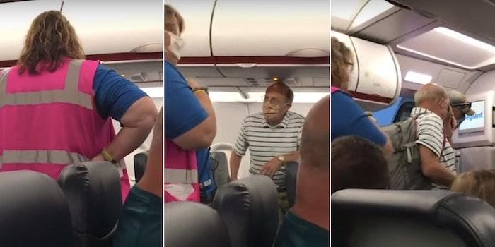 Allegiant Air flight attendant face mask
