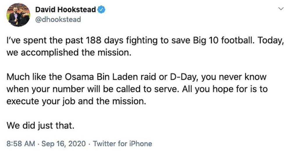 big ten tweet