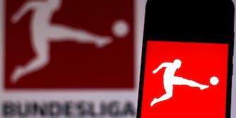 bundesliga logo with mobile phone stream bundesliga live stream