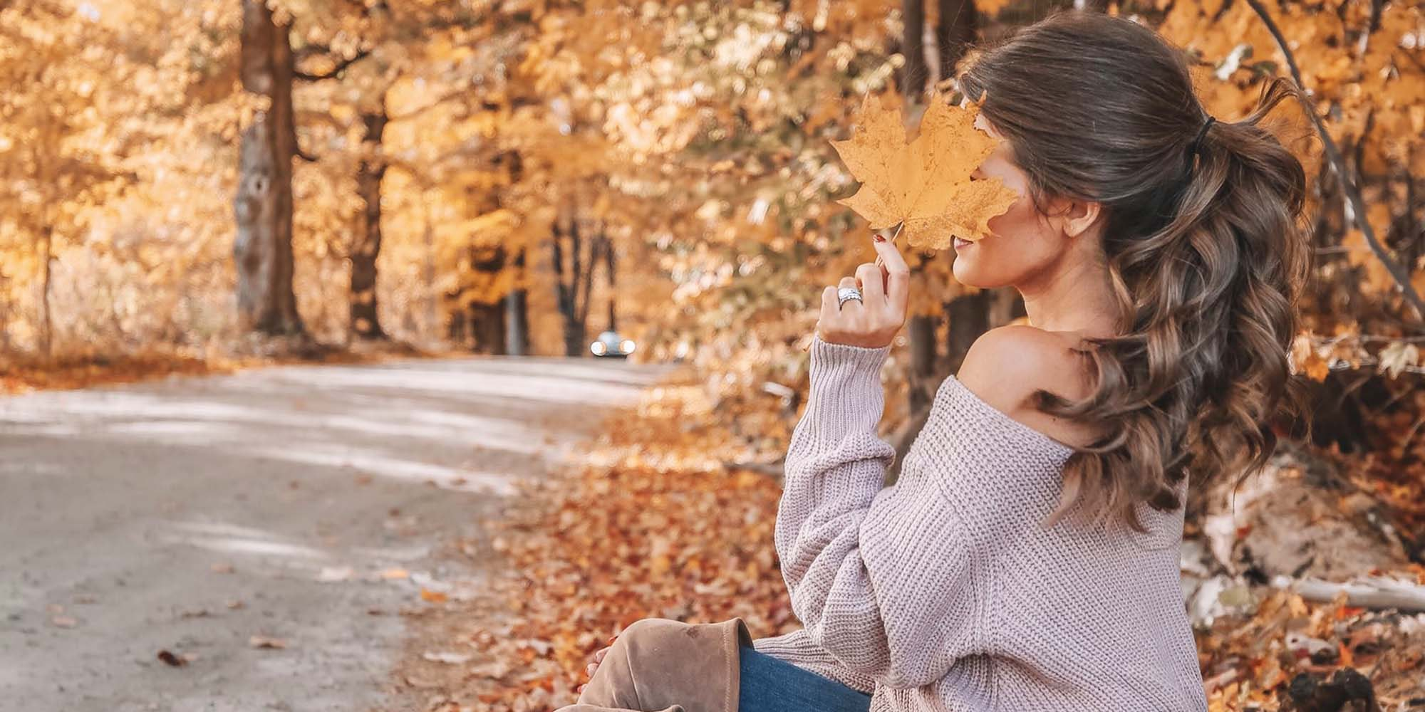 christian girl autumn