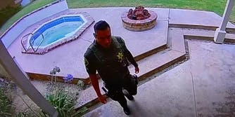 orange county sheriff's deputy on surveillance video