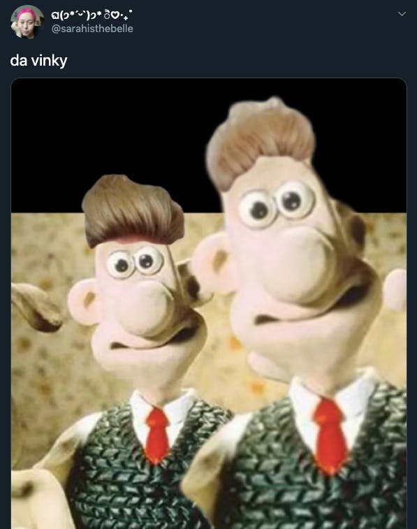da vinky memes - wallace and gromit