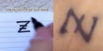 gen z nazi tattoo tiktok