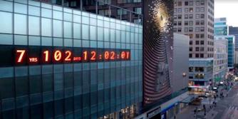 clock in union square tracks climate change