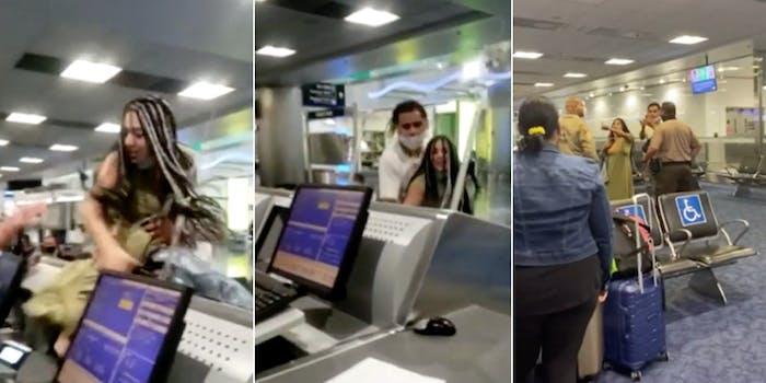 Karen airport counter