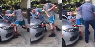 kid knocks out step dad