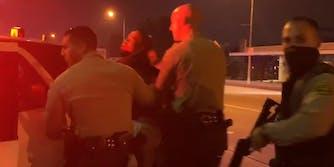 LASD just before arresting journalist Josie Huang