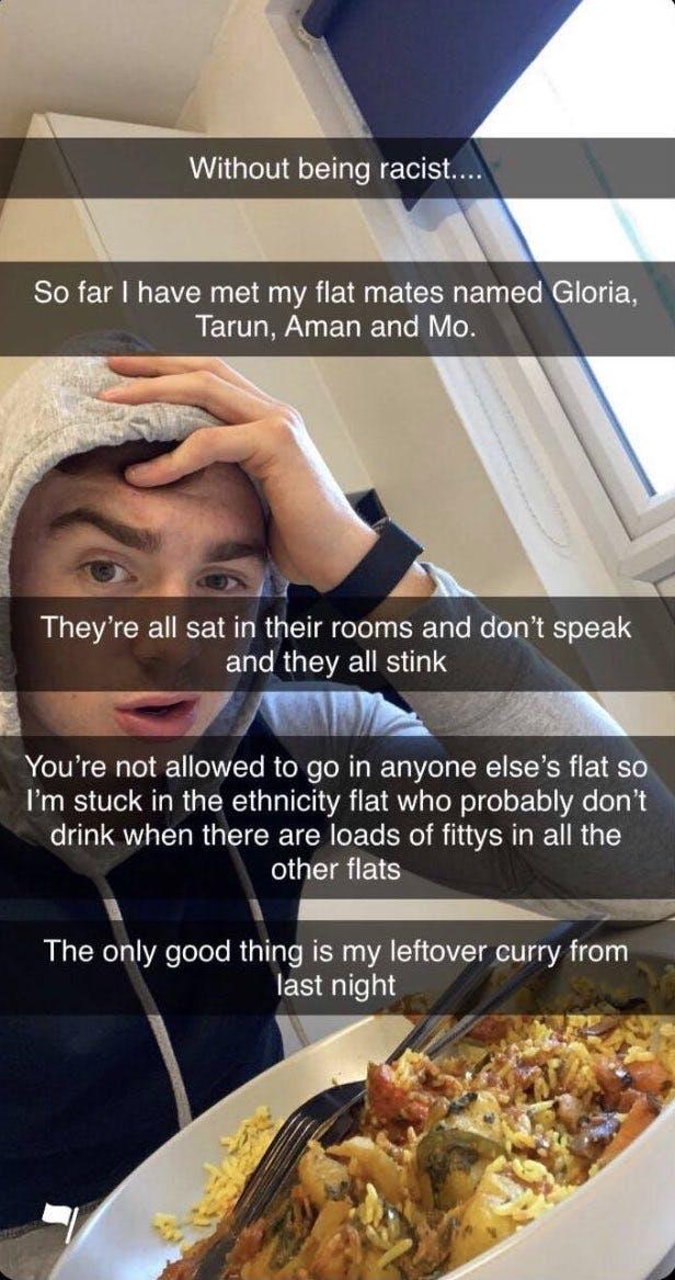 Loughborough University student racist Snapchat