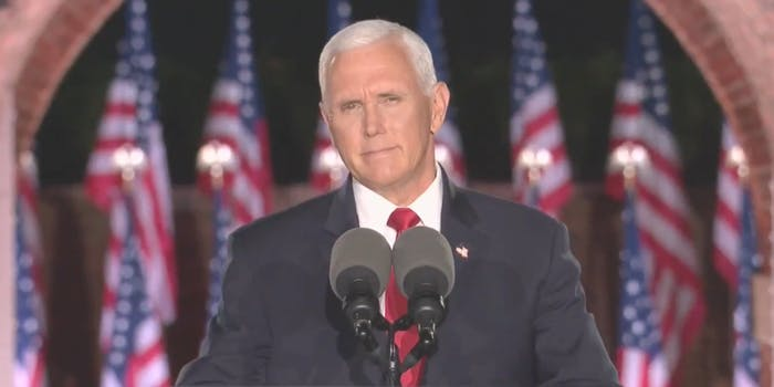 Vice President Mike Pence giving a speech