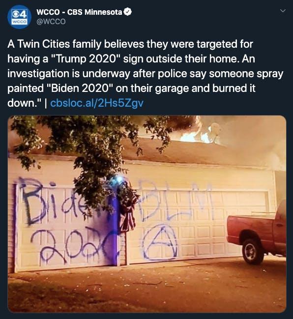 Pro Trump garage anarchy graffiti