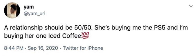 relationship should be 50/50