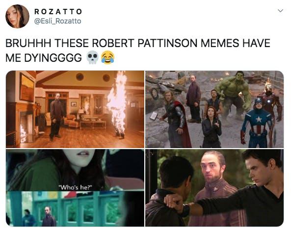 robert pattinson track suit memes