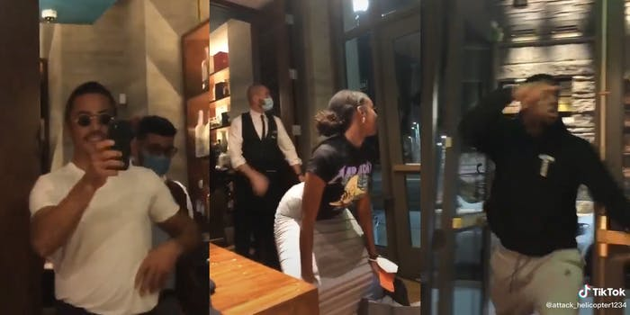 """man gets mad at woman for dancing for """"salt bae"""""""