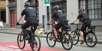 seattle police on bicycles