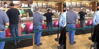 man has meltdown when denied service at Subway for not wearing a mask