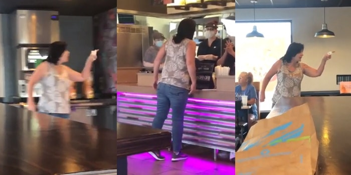 racist woman uses slur in taco bell rant
