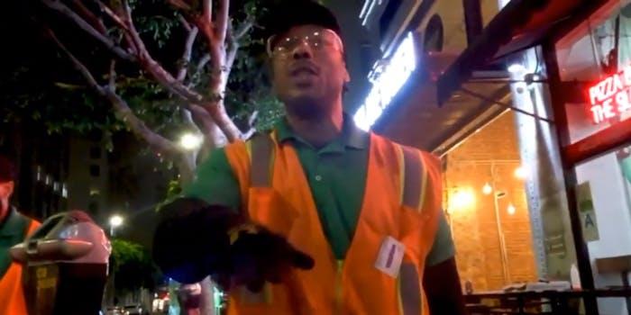 uber driver karen harasses city worker