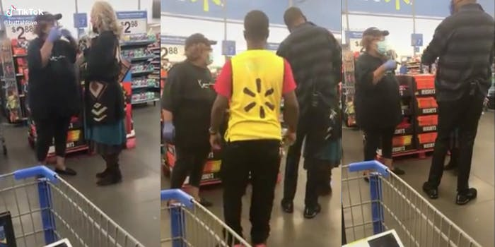 A woman confronts another woman in Walmart