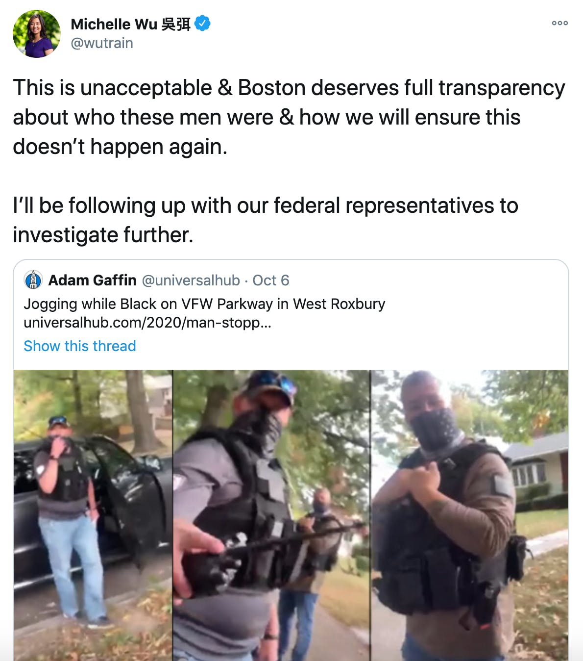 This is unacceptable & Boston deserves full transparency about who these men were & how we will ensure this doesn't happen again.  I'll be following up with our federal representatives to investigate further.