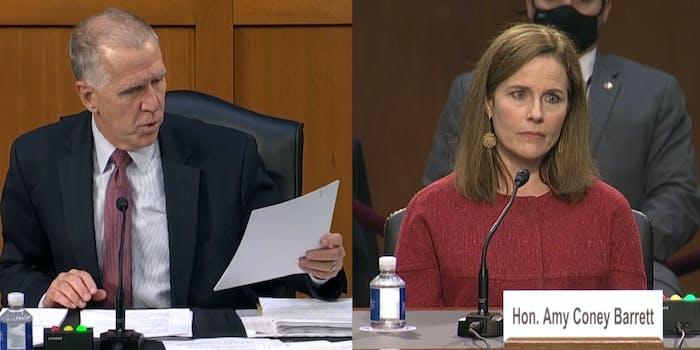Amy Coney Barrett Mean Tweets Republican Senator Thom Tillis