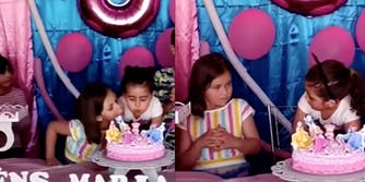This birthday girl is not having it after a child blew her birthday candles