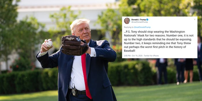 Donald Trump Anthony Fauci First Pitch Tweet