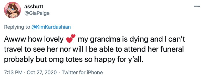 Awww how lovely Two hearts my grandma is dying and I can't travel to see her nor will I be able to attend her funeral probably but omg totes so happy for y'all.