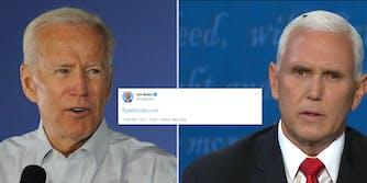Joe Biden Mike Pence Fly