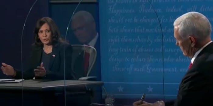 "Kamala tells Pence ""I'm speaking"""