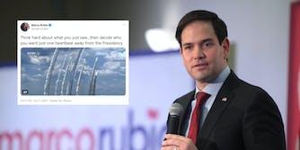 Marco Rubio Debate Tweet